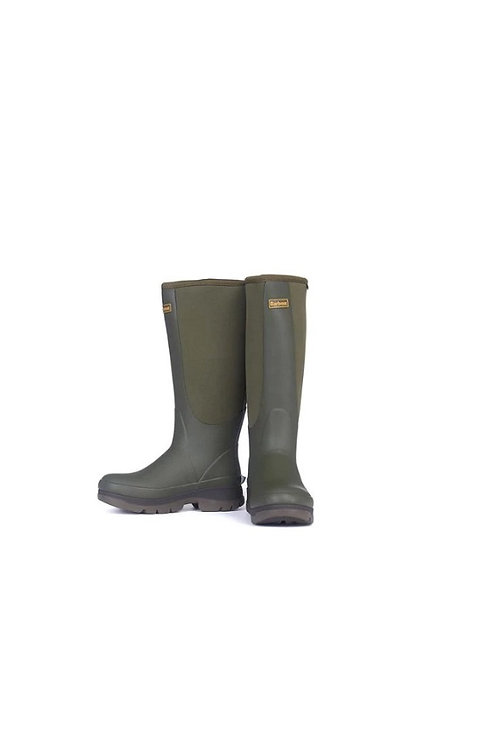 BARBOUR LADIES OLIVE CYCLONE WELLINGTON BOOTS