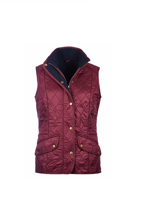 BARBOUR LADIES ROSEWOOD/NAVY CAVALRY GILET