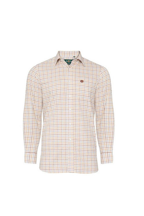 ALAN PAINE ILKLEY BROWN COUNTRY CHECK SHIRT- SHOOTING FIT