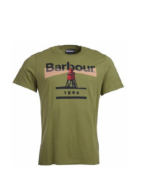 BARBOUR BURNT OLIVE LIGHTHOUSE 94 T-SHIRT