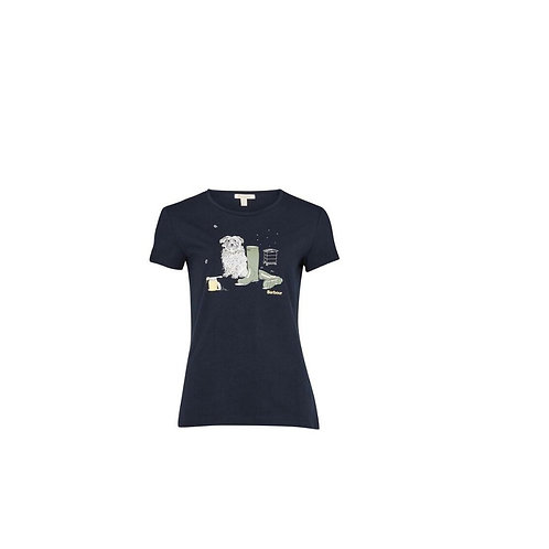 BARBOUR LADIES NAVY ROWAN T-SHIRT