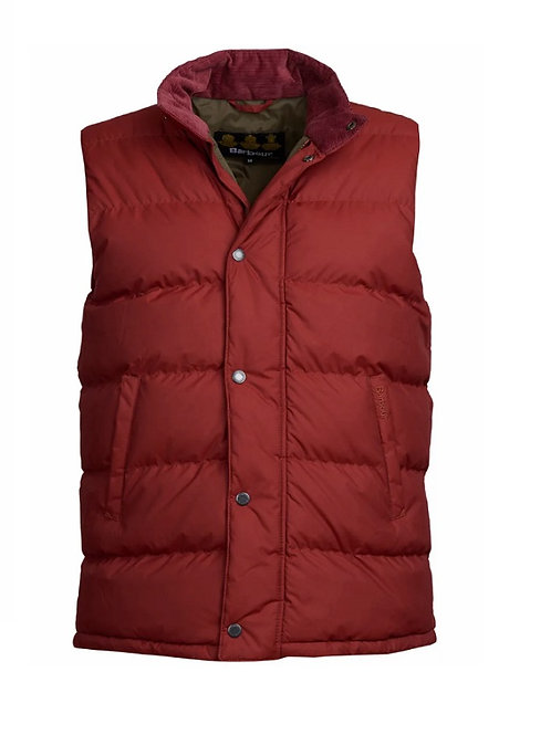 BARBOUR RUSSET RED MELLOR GILET