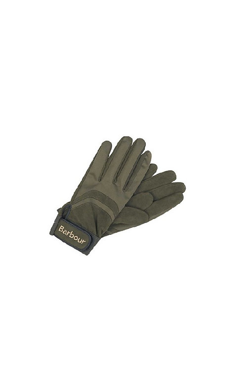 BARBOUR OLIVE SURE GRIP SPORTING GLOVE