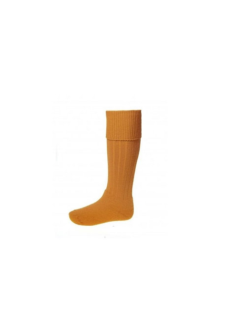 HOUSE OF CHEVIOT OCHRE JURA SHOOTING SOCKS