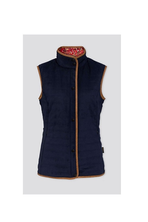 ALAN PAINE LADIES NAVY FELWELL QUILTED GILET