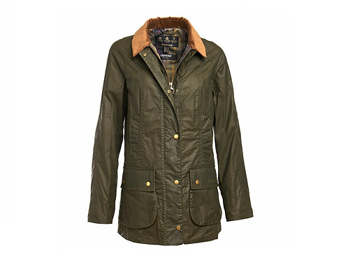 BARBOUR LADIES OLIVE WAX ARCHIVE OLIVE BEADNELL JACKET