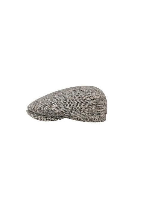 STETSON GREY (331) HASTINGS VIRGIN WOOL FLAT CAP (6380506)