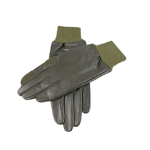 DENTS OLIVE MALVERN LEATHER SHOOTING GLOVES