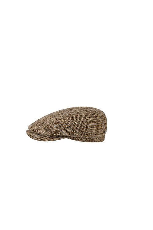 STETSON BROWN (367) HASTINGS VIRGIN WOOL FLAT CAP (6380506)