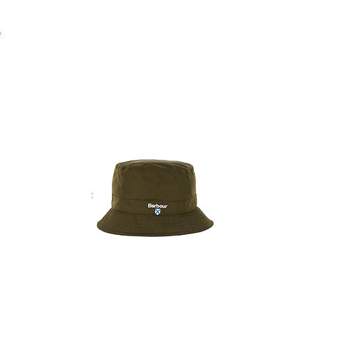 BARBOUR OLIVE CRESTWATERPROOF SPORTS HAT