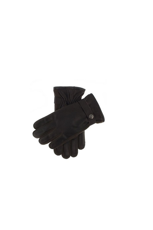 DENTS BROWN HARPFORD LEATHER WITH KNITTED SIDEWALLS GLOVES