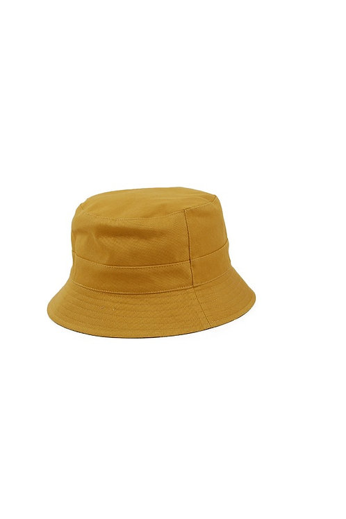 FAILSWORTH MUSTARD/PALM TREE COTTON REVERSIBLE BUCKET HAT