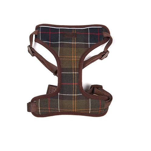 BARBOUR TARTAN TRAVEL AND EXERCISE DOG HARNESS