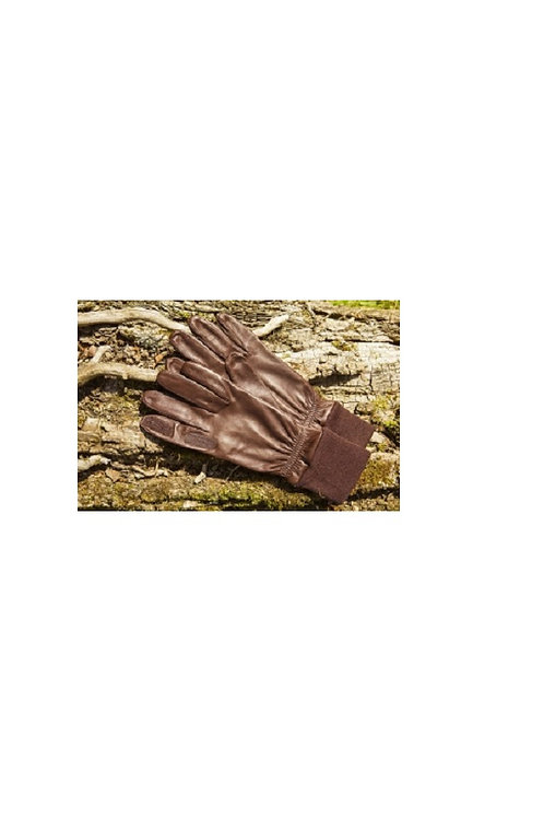 CHESTER JEFFERIES SPORTAC BROWN LEATHER MARKSMAN SHOOTING GLOVES
