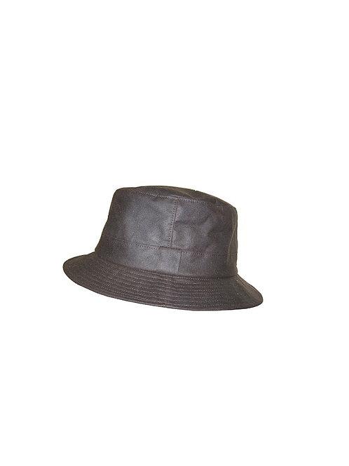 HOGGS OF FIFE BROWN WAXED BUSH HAT