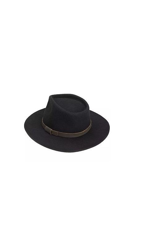 BARBOUR BLACK CRUSHABLE BUSHMAN HAT