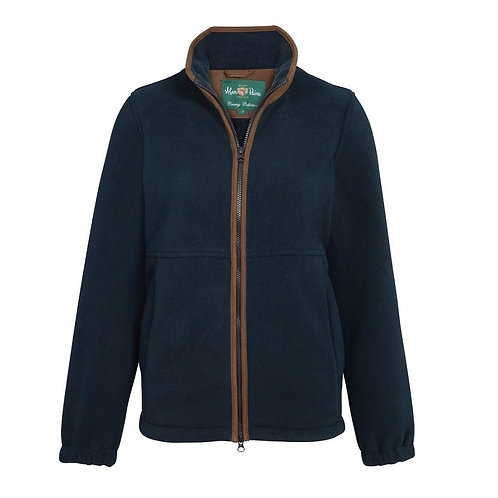 ALAN PAINE LADIES NAVY AYLSHAM FLEECE JACKET