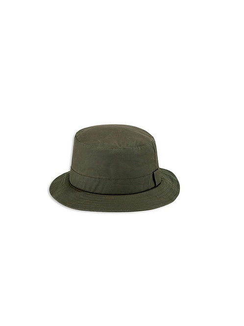HOGGS OF FIFE DARK OLIVE WAXED BUSH HAT