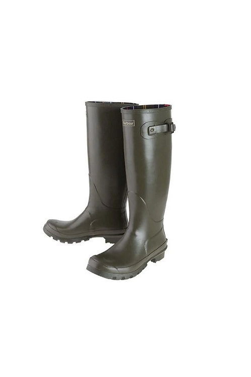BARBOUR MENS OLIVE BEDE WELLINGTON BOOTS