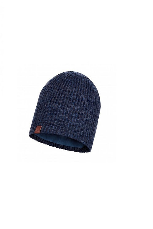 BUFF NIGHT BLUE LYNE KNITTED AND POLAR HAT