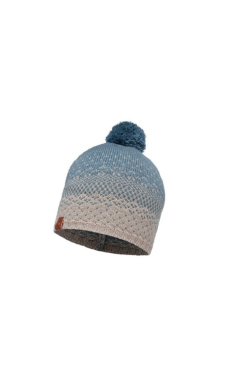 BUFF STONE BLUE MAWI KNITTED HAT
