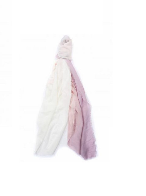 BARBOUR BLOSSOM PINK DIPDYE WRAP SCARF
