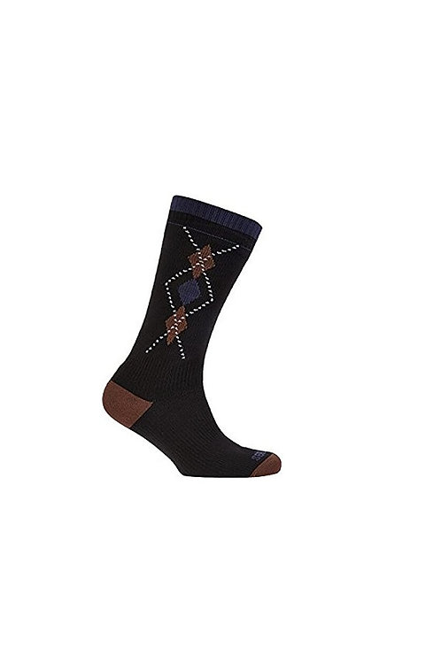 SEALSKINZ BLACK/BROWN SEA EAGLE MID WEIGHT MID LENGTH SOCK