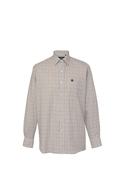 ALAN PAINE ILKLEY RED COUNTRY CHECK SHIRT- SHOOTING FIT