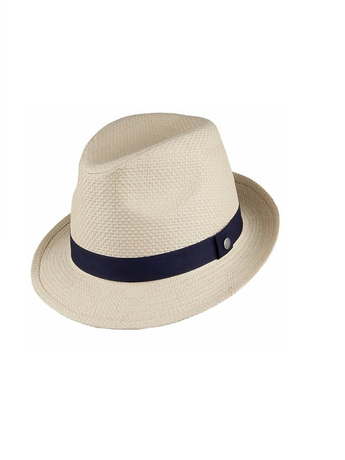 BARBOUR NATURAL EMBLEM TRILBY HAT
