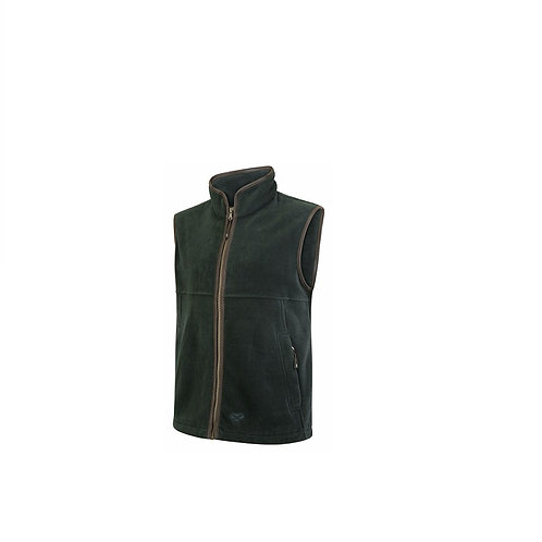 HOGGS OF FIFE MENS PINE STENTON TECHNICAL FLEECE GILET