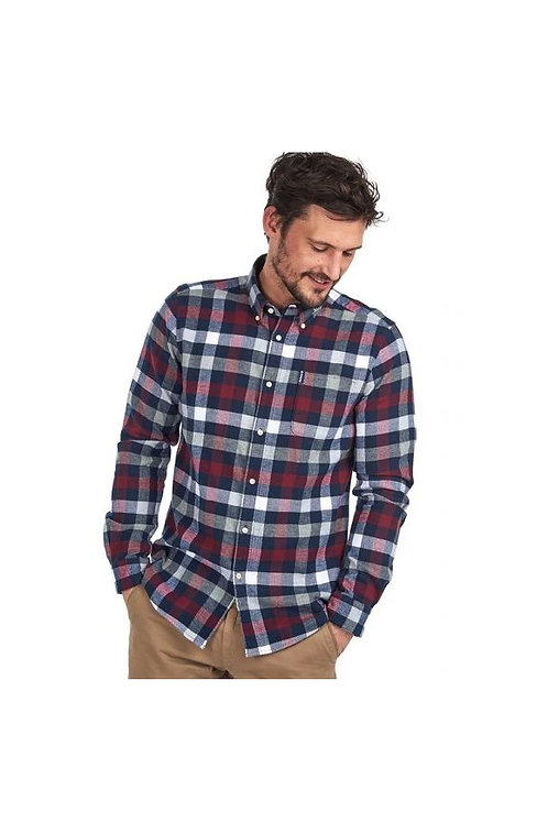 BARBOUR CRIMSON COUNTRY CHECK 5 TAILORED FIT SHIRT