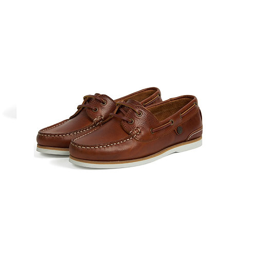 BARBOUR LADIES COGNAC BOWLINE BOAT SHOES