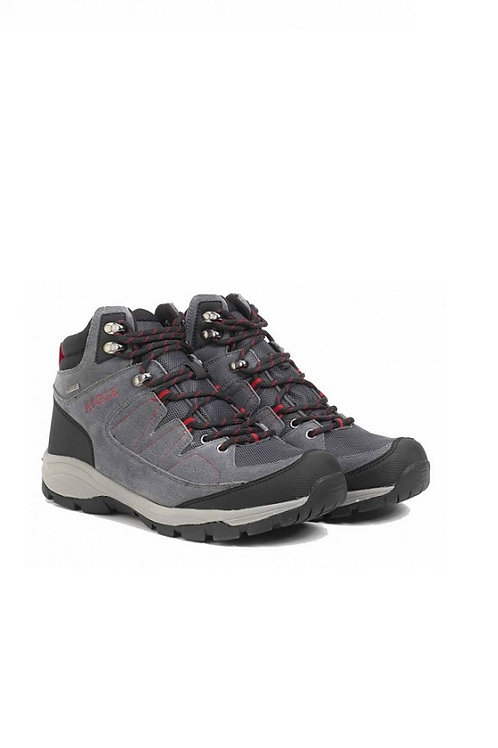 AIGLE MID GREY/RED VEDUR MID MTD BOOT
