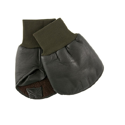 DENTS OLIVE BOSS LEATHER SHOOTING MITT