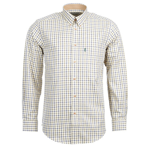 BARBOUR RED/KHAKI SPORTING TATTERSALL SHIRT