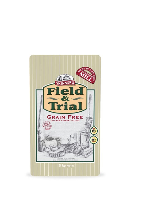 SKINNERS FIELD AND TRAIL GRAIN FREE CHICKEN/SWEET POTATO DRY DOG FOOD 15KG