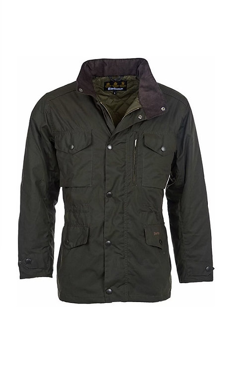 BARBOUR OLIVE SAPPER WAX JACKET