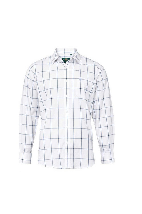 ALAN PAINE ILKLEY BLUE 40  COUNTRY CHECK SHIRT- SHOOTING FIT