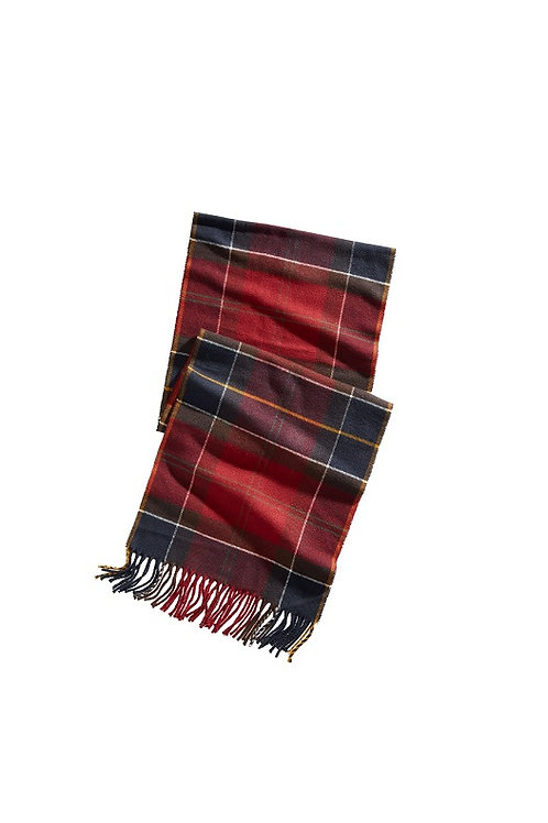BARBOUR RED TARTAN GALLINGALE SCARF