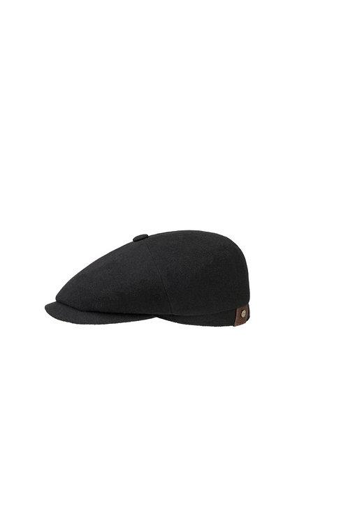 STETSON BLACK (1) HATTERAS BAKERBOY FLAT CAP (6840101)