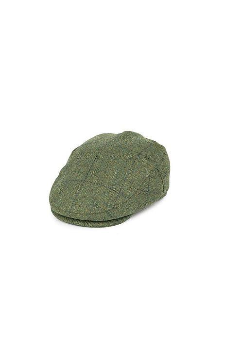 FAILSWORTH LOVAT MILL WATERPROOF FLAT CAP (519) MOSS CHECK