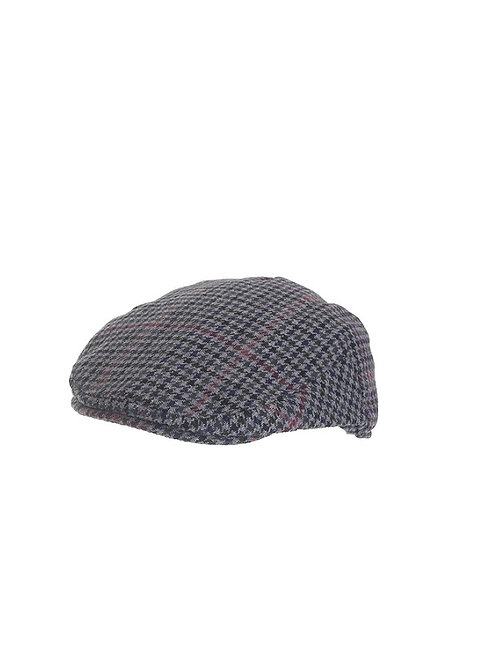 FAILSWORTH NORWICH FLAT CAP (114) GREY/RED CHECK
