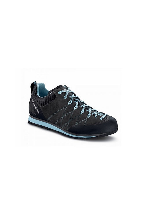 SCARPA LADIES SHARK/BLUE RADIANCE CRUX APPROACH SHOE