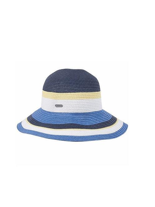 BARBOUR LADIES BLUE/YELLOW MARSH CLOCHE HAT