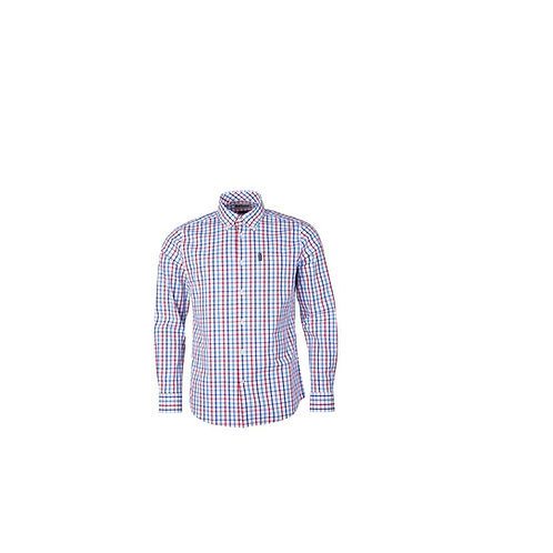 BARBOUR RED 15 TATTERSALL TAILORED FIT SHIRT