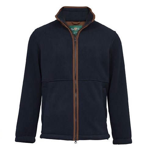 Alan Paine Dark Navy Aylsham Fleece Jacket