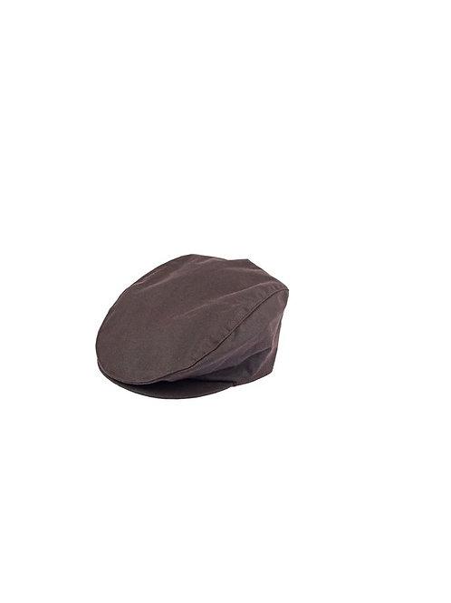 DENTS BROWN WAX COTTON FLAT CAP