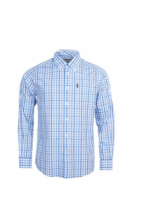 BARBOUR BLUE 16 TATTERSALL TAILORED FIT SHIRT