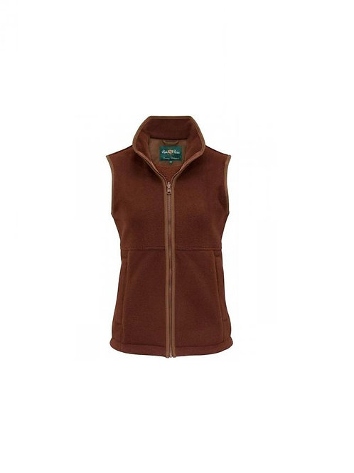 ALAN PAINE LADIES RUSSET AYLSHAM FLEECE GILET