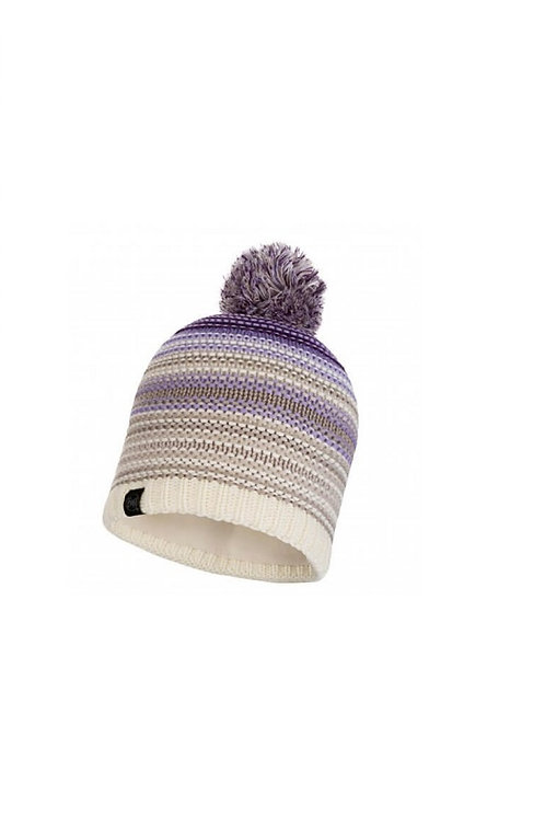 BUFF VIOLET NEPER KNITTED AND POLAR HAT